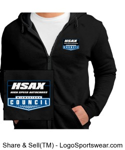 MCSCC Concert Fleece by District - High Speed Autocross Design Zoom