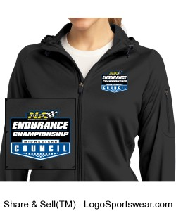 MCSCC Ladies Tech Fleece Full Zip Hooded Jacket - NA Tires Endurance Championship Design Zoom