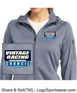 MCSCC Ladies Tech Fleece Full Zip Hooded Jacket - Vintage Racing Design Zoom