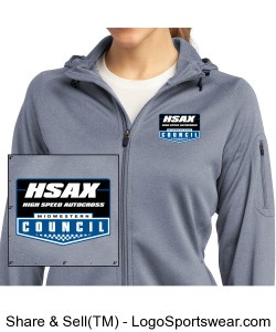 MCSCC Ladies Tech Fleece Full Zip Hooded Jacket - HSAX Design Zoom